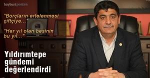 Yıldırımtepe'den 'çiftçi borçları' ve 'ithal et' açıklaması