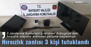 Bayburt'ta 3 hırsızlık zanlısı tutuklandı