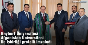 Bayburt Üniversitesi ile Jawzjan Üniversitesi Arasında İşbirliği Protokolü