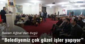 Maliye Bakanı Ağbal'dan belediye hizmetlerine övgü