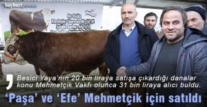 """""""Paşa"""" ve """"Efe"""" Mehmetçik için satıldı"""