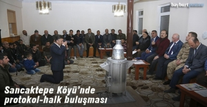 Sancaktepe Köyü'nde protokol-halk buluşması