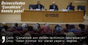 """Bayburt Üniversitesi'nden """"Çanakkale Zaferi"""" konulu panel"""