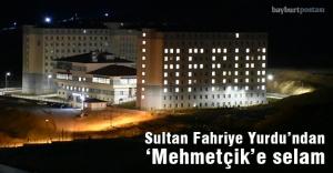 Bayburt Üniversitesi'nden 'Mehmetçik'e ışıklı destek