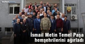Korgeneral İsmail Metin Temel'e hemşehrilerinden ziyaret