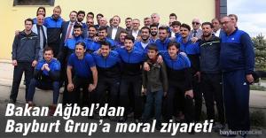 Bakan Ağbal'dan Bayburt Grup'a moral ziyareti