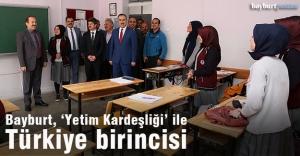 Bayburt, 'İyilikte Yarışan Sınıflar' projesinde Türkiye birincisi