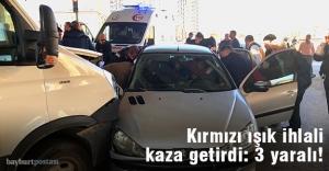 Bayburt'ta trafik kazası: 3 yaralı