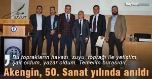 Bayburt Üniversitesi, Yahya Akengin'i 50. Sanat yılında andı