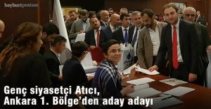 Genç siyasetçi Atıcı, Ankara#039;dan...