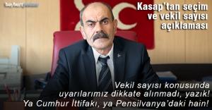 Kasap'tan '24 Haziran' ve 'vekil sayısı' açıklaması