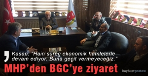 MHP'den Bayburt Gazeteciler Cemiyeti'ne ziyaret