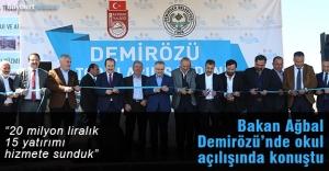 Bakan Ağbal, Demirözü'nde toplu açılış töreninde konuştu