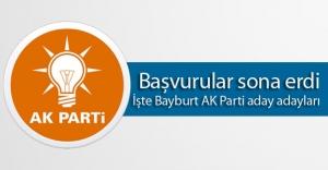 Bayburt AK Parti aday adayları açıklandı