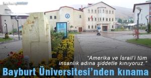 Bayburt Üniversitesi'nden kınama