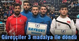 Bayburt Üniversitesi güreşte 3 madalya kazandı