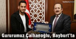 Gururumuz Hakan Çalhanoğlu Bayburt'ta