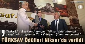TÜRKSAV ödülleri Niksar'da verildi