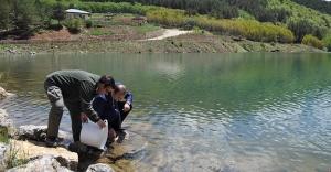 Yakupabdal Göleti balıklandırıldı