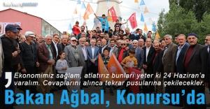 Bakan Ağbal, Konursu#039;da destek...