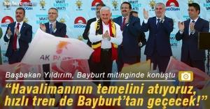 Başbakan Yıldırım, Bayburt mitinginde konuştu