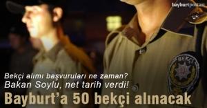 Bayburt#039;a 50 bekçi alınacak
