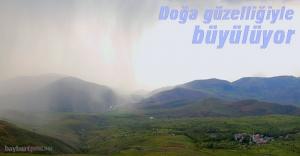 Gökyüzünde bulut manzarası büyüledi