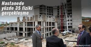 Hastane inşaatı devam ediyor