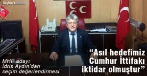 MHP adayı Aydın, seçim sonuçlarını değerlendirdi