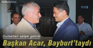Aliağa Belediye Başkanı Acar'dan Bayburt ziyareti