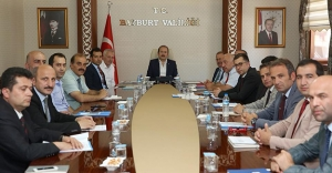 Bayburt'ta ekonomik değerlendirme toplantısı