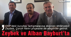CHP Milletvekilleri Zeybek ve Alban Bayburt'ta