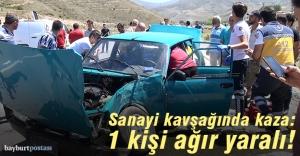 Sanayi kavşağında kaza: 1 yaralı