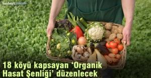 Bayburt'ta, organik ürünler hasat şenliği düzenlenecek