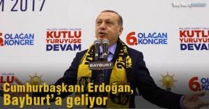 Cumhurbaşkanı Erdoğan, Cuma günü Bayburt'ta