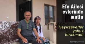 Efe Ailesi yeni evlerinde mutlu