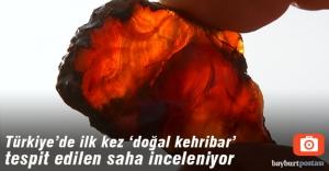 """Aydıncık köyünde """"doğal kehribar"""" tespit edilen saha inceleniyor"""