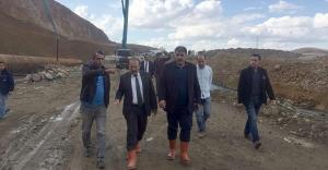 Kırklartepe Barajı İnşaatı ve Yukarı Pınarlı Ağaçlandırma sahasında inceleme