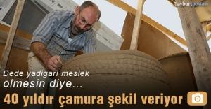 Recai Purutoğlu, 40 yıldır çamura şekil veriyor