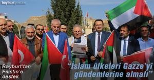 Bayburt İHH'den Gazze için destek açıklaması
