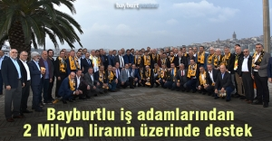 İstanbul'daki iş adamlarından Bayburt İl Özel İdarespor'a büyük destek
