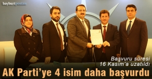 Bayburt AK Parti'ye dört isim daha başvuruda bulundu