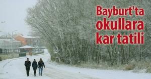 Bayburt'ta okullara kar tatili