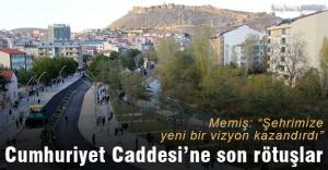 Cumhuriyet Caddesi'ne son rötuşlar
