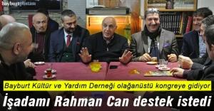 İşadamı Rahman Can, destek istedi