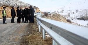 Köy yollarına çelik bariyer