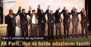 AK Parti, ilçe ve belde adaylarını tanıttı