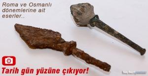 Bayburt Kalesi'nde Roma ve Osmanlı dönemine ait eserler