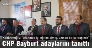 CHP, Bayburt genelinde adaylarını...