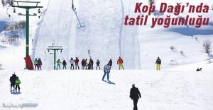 Kop Kayak Merkezi'nde tatil yoğunluğu